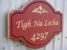 Wooden Address Signs, driveway signs